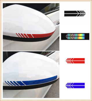 1 pair of car rearview mirrors Side stripe sticker auto styling for BMW 760Li 320d 135i 335is Scooter Gran E36 F30 image