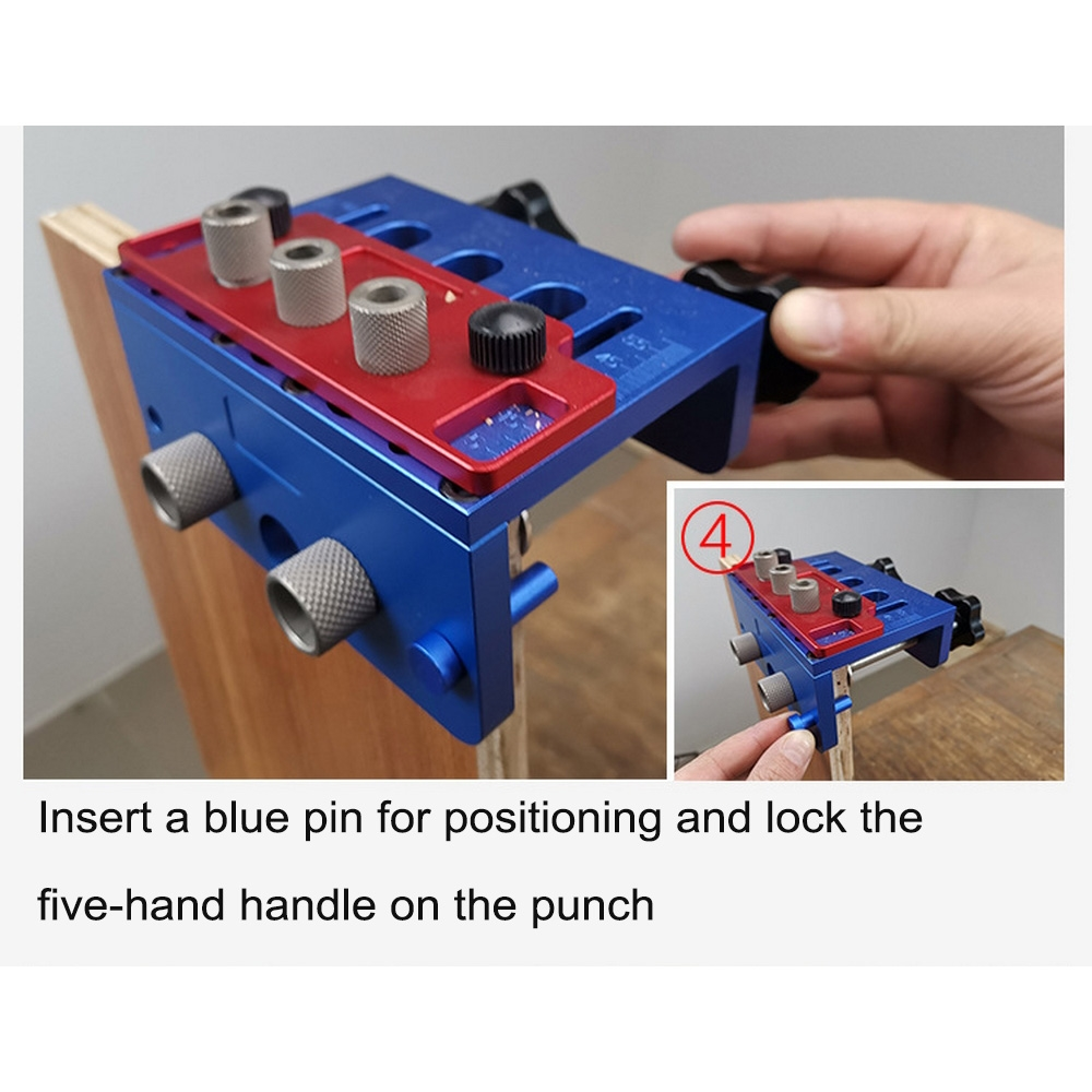 Die Steel Aluminum Alloy 08350S Round Wood Hole Puncher Round Wood Vertebra Drilling Three-in-one Positioning Woodworking Openi