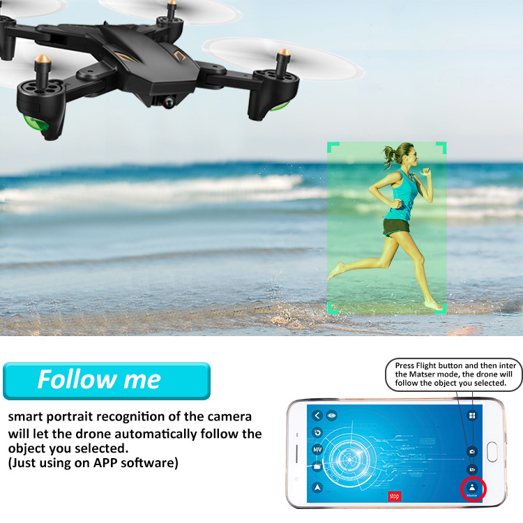 Folding Unmanned Aerial Vehicle Aerial Photography Optical Flow Follow Remote Control Aircraft Long Life Dual Camera Remote Cont