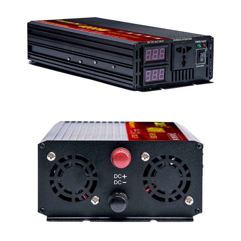 Zuivere Sinus Omvormer Dc 12V 24V Ac 110V 220V 2000W 3000W 4000W Auto Omvormer Converte Met Led Display