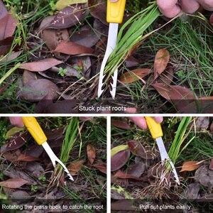 Herramienta de jardín portátil de acero inoxidable Manual deshierbe la excavadora ergonómica antideslizante regalo Weed Puller Lawn Durable Handheld