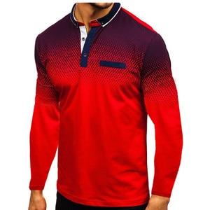 Image 2 - 2019 Autumn NEW Fashion POLO Shirt Men, Cotton Casual Long Sleeve POLO Shirts, Male High Quality Turn Down Collar POLO Shirt