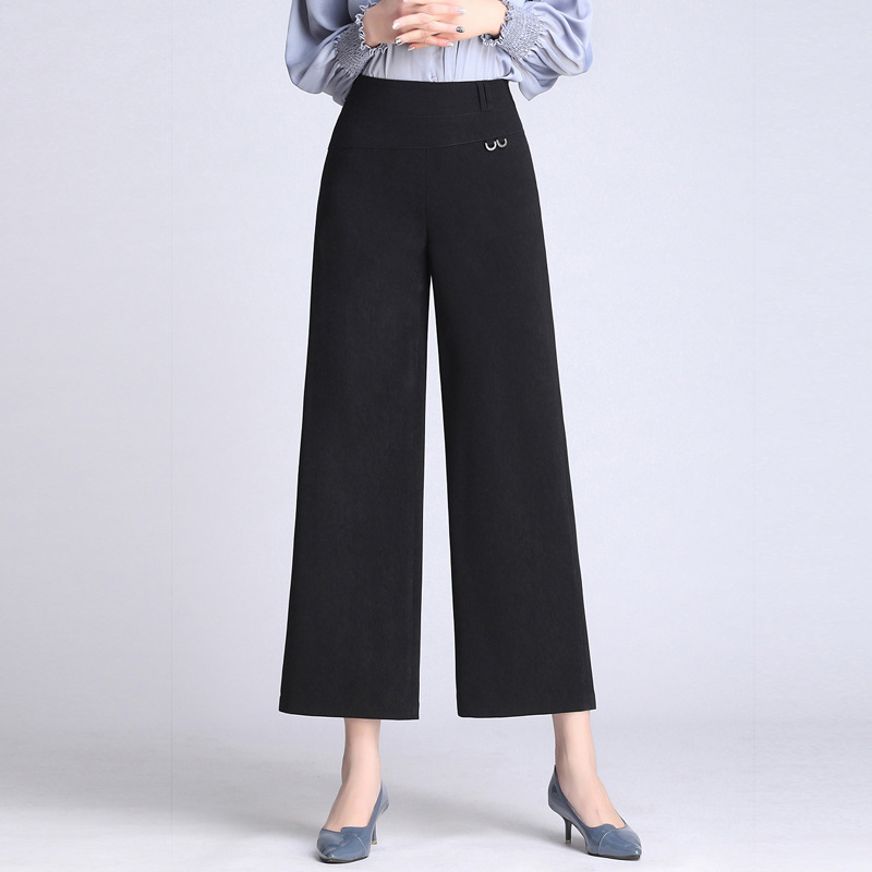 Yue Yuan WOMEN'S   Pants   2019 New Style High-waisted Loose   Pants   Women's Casual   Pants   Women's xia shi   Pants     Capri     Pants   Drape wu k