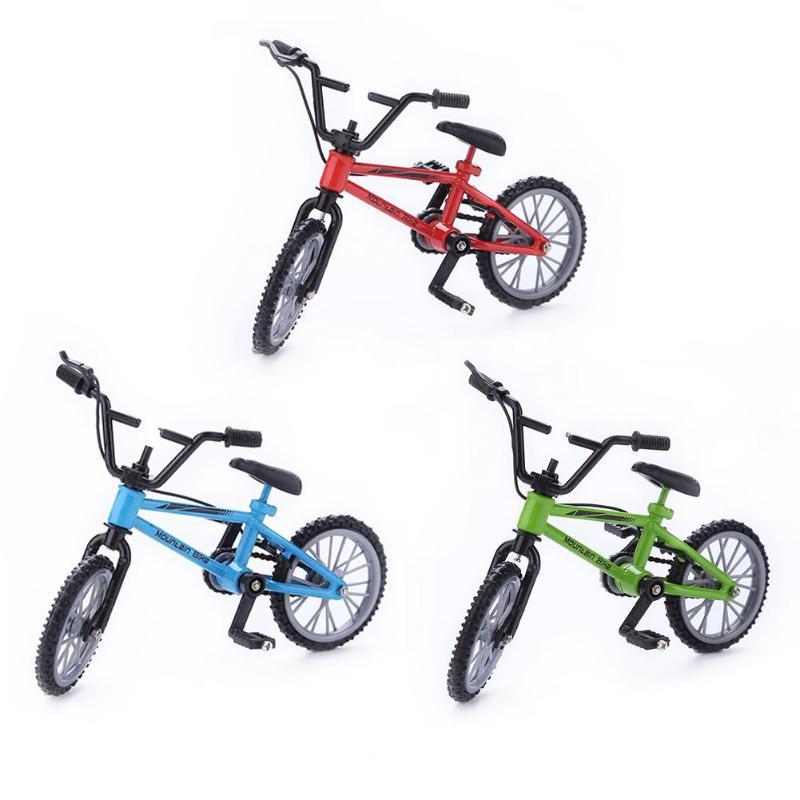Mini Finger Mountain Bikes Diecast Nickel Alloy Stents Finger Bicycle Children Novelty Gag Toys Model Mini Portable Bike For Kid