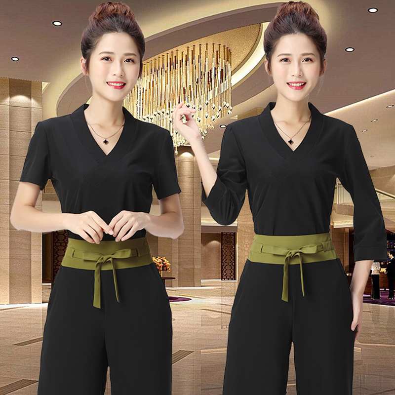 Spring And Summer Beauty Uniform Spa Uniforms Salon Thai Clothes Fashion Slim Massage Health Overalls Beauty Salon Work Clothes
