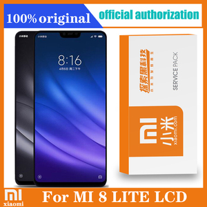 Original 6.26'' Display with frame for Xiaomi Mi 8 Lite mi8 lite Global LCD Touch Screen Digitizer Assembly Repair Parts