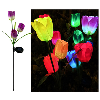 2 sztuk LED oswietlenie ogrodu słonecznego sztuczny kwiat lampa kolor RGB zewnątrz wodoodporna wkładka do ogrodu na trawnik ścieżka ślub światła wystrój tanie i dobre opinie Woopower CN (pochodzenie) NONE Solar Powered IP65 1 2 v STAINLESS STEEL Brak Żarówki LED Nowoczesne HOLIDAY Ni-mh