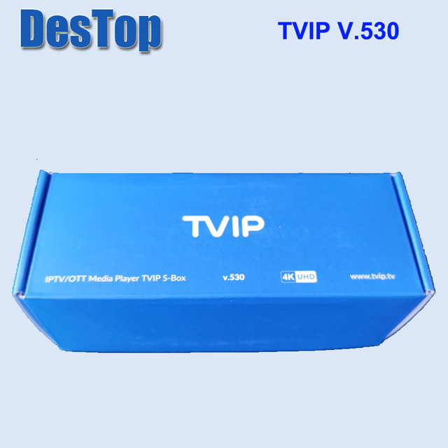 5 pièces dorigine TVIP 530 S905W 1G 8G Linux tv box I P T V boîte de diffusion I P T V tv box Support Protal TVIP v530