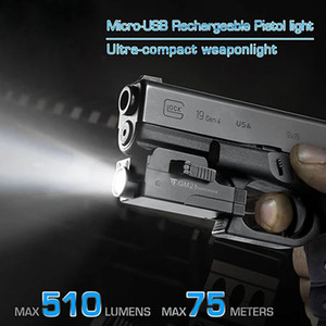 Image 5 - Trustfire GM21 Tactical Flashlight Weapon Light USB Rechargeable Pistol Light Hunting Headlight For Glock Picatinny Firearms