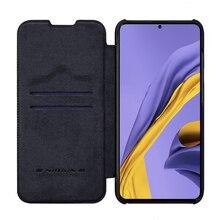Para samsung galaxy a51 5g caso do telefone nillkin qin série flip caso de couro para samsung galaxy a51 capa carteira de luxo