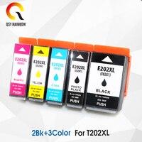유럽 T202XL 202XL 엡손 식 프리미엄 XP-6000 XP-6005 XP-6001 XP-6100 프린터 5pcs