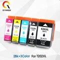 5 piezas Compatible con Epson 202XL T202XL E202XL cartucho de tinta para Epson Expression Premium XP-6000 XP-6001 XP-6005 etc