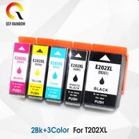 5PCS Compatible For Epson 202XL T202XL E202XL ink cartridge For Epson Expression Premium XP 6000 XP 6001 XP 6005 etc.
