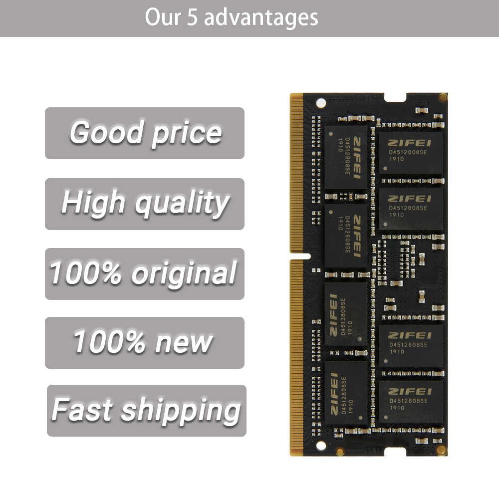 ZiFei ram DDR4 32GB 16GB 8GB 4GB 2133MHz 2400MHz 2666MHz 260Pin SO-DIMM وحدة دفتر الذاكرة لأجهزة الكمبيوتر المحمول