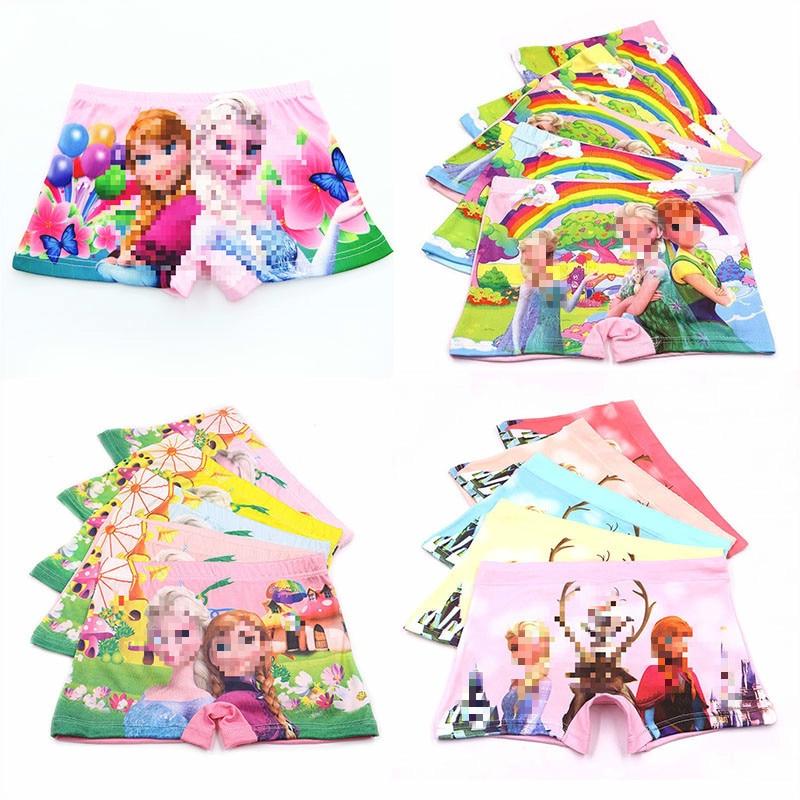 5pcs/lot New Fashion Kids   Panties   Girls' Briefs Female Child Lovely Cartoon Princess   Panties   Boxer Children Clothing Underwear