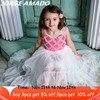 גבוהה נמוך פרח ילדה שמלת 2020 חדש סגנון פאייטים סלוניים שמלות לחתונה מסיבת לבצע ילדים בגדי E17128