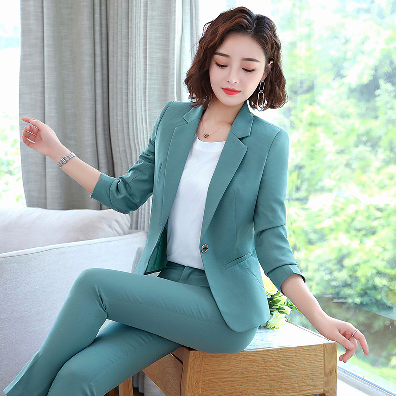 High Quality Professional Women's Pants Suit Feminine 2020 New Ladies Blazer Office Work Clothes Interview Clothing Two-piece