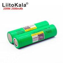 LiitoKala بطارية ليثيوم تفريغ عالية الطاقة INR1865025R ، 18650 مللي أمبير ، 2500 فولت ، 3.7 25R ، 25RM ، 18650