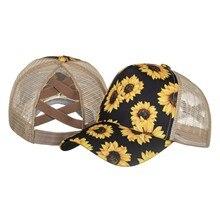 Hat Baseball-Cap Beach Sunflower-Printed-Caps Adjustable Women Hip-Hop-Hat -P1 New
