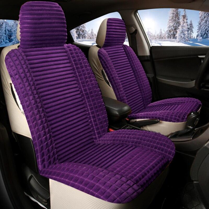 Couverture de sièges Auto hiver couverture complète housse de siège de voiture en peluche pour hummer h2 creta ix25 elantra i30 i40 ix35 kona santa fe solaris - 6