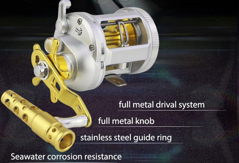 Metal baitcasting carretel de pesca carretel pesca