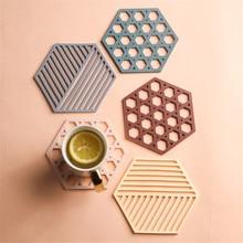 Geometric Coasters Placemat Table-Mat Desktop-Decor Coaster-Milk-Coffee-Drink Non-Slip
