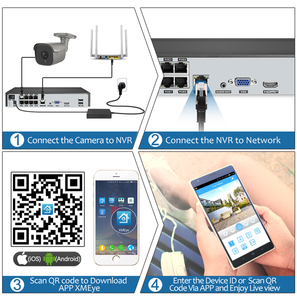 Image 5 - Techage 8CH 5MP POE NVR الأمن نظام الكاميرا اتجاهين الصوت سجل كاميرا IP داخلي في الهواء الطلق طقم مراقبة الفيديو الدوائر التلفزيونية المغلقة