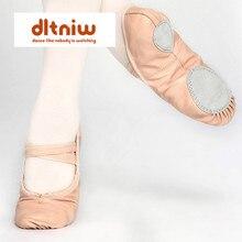 المرأة المهنية حذاء راقصة البالية النعال النساء الفتيات الاطفال طفل جلد طبيعي Zapatillas السيدات كامل سبليت وحيد حذاء للرقص