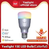 Yelight-bombilla LED inteligente para hogares, lámpara colorida de 800/650 lúmenes, E27, Código 7, SDDVMLVNPMN, 1S/1SE, para aplicación para hogares, asistente de Google