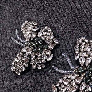 Image 5 - GZHilovingL Woman Butterfly Diamonds Beads Beanies Hats Soft Thin Wool Cotton Knitting Skullies Beanies Hats For Ladies Girls