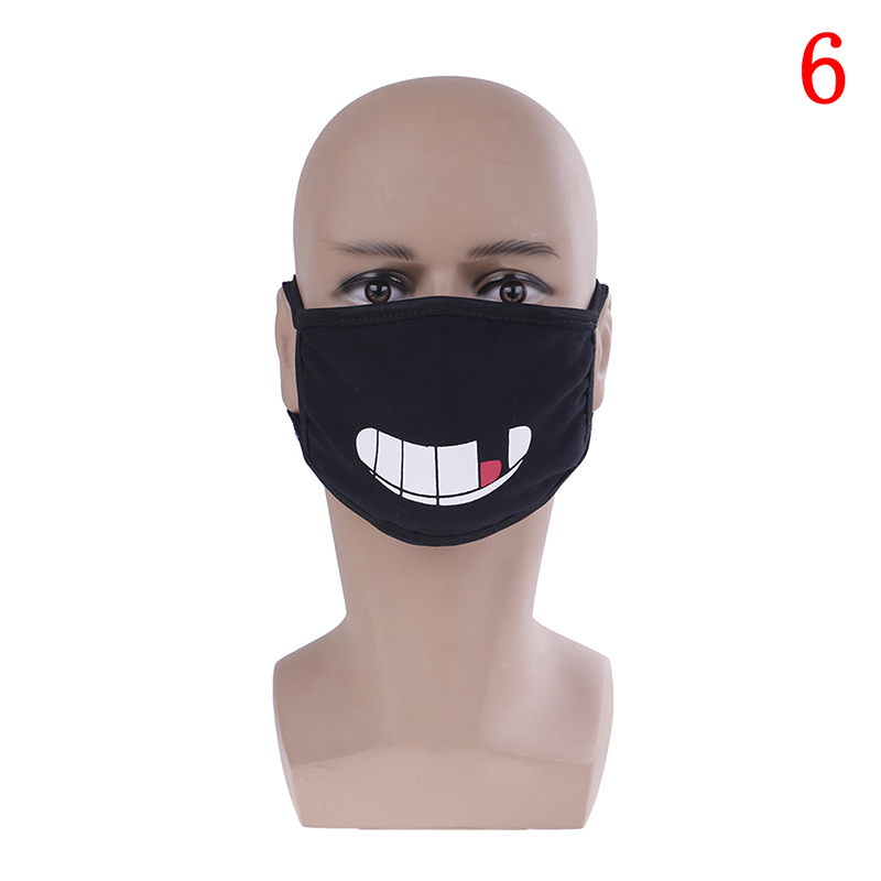 Маска для лица унисекс, хлопковая Пылезащитная маска для лица, маска для лица с рисунком медведя из аниме, женские и мужские Вечерние Маски для лица - Цвет: 6
