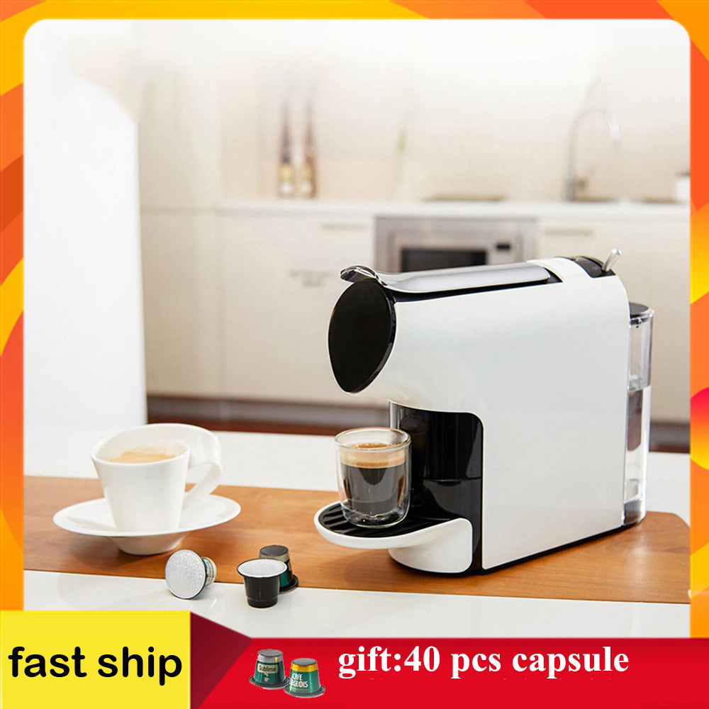 SCISHARE Smart Coffee Machine 9 Level Concentration Capsule Espresso Preset Compatible With 40 Coffee Capsules High Quality