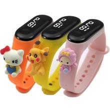 Children Watch Bracelet Digital Girl Electronic Sports Cartoon Rubber LED New-Style Student