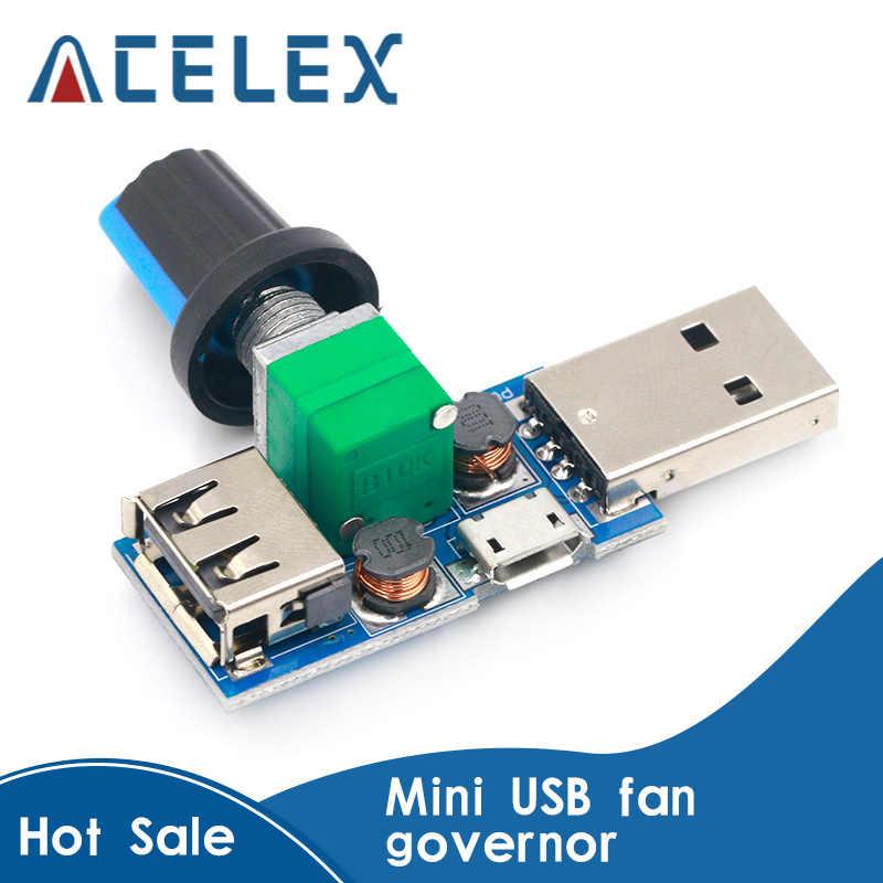USB Lüfter Drehzahlregler DC 4V-12V 5W Multi-Gear Mute Hilfskühlwerkzeug gutJ TG