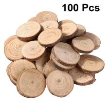 100 PCS ไม้สนชิ้น Double-Sided NATURAL ไม้ชิป DIY Handmade Home ตกแต่ง Photograghy Props(China)