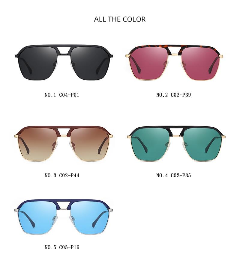 Classic Pilot Polarized Sunglasses Men Coating Mirror Sport Retro Sun Glasses Men Ride Travel Driving Fishing Eyewear Male UV400 (8)