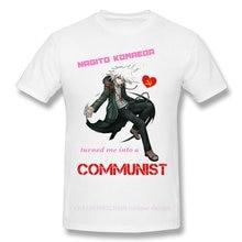 Danganronpa-Camiseta de Manga corta personalizada para hombre y niña, ropa de moda comunista