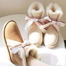 The latest genuine sheepskin in 2019, 100% natural wool women's snow boots, 4 colors, free delivery