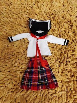 1/6 ropa Bjd Falda plisada traje uniones muñecas uniformes 28cm Accesorios para muñeca bebé estilo universitario uniformes escolares
