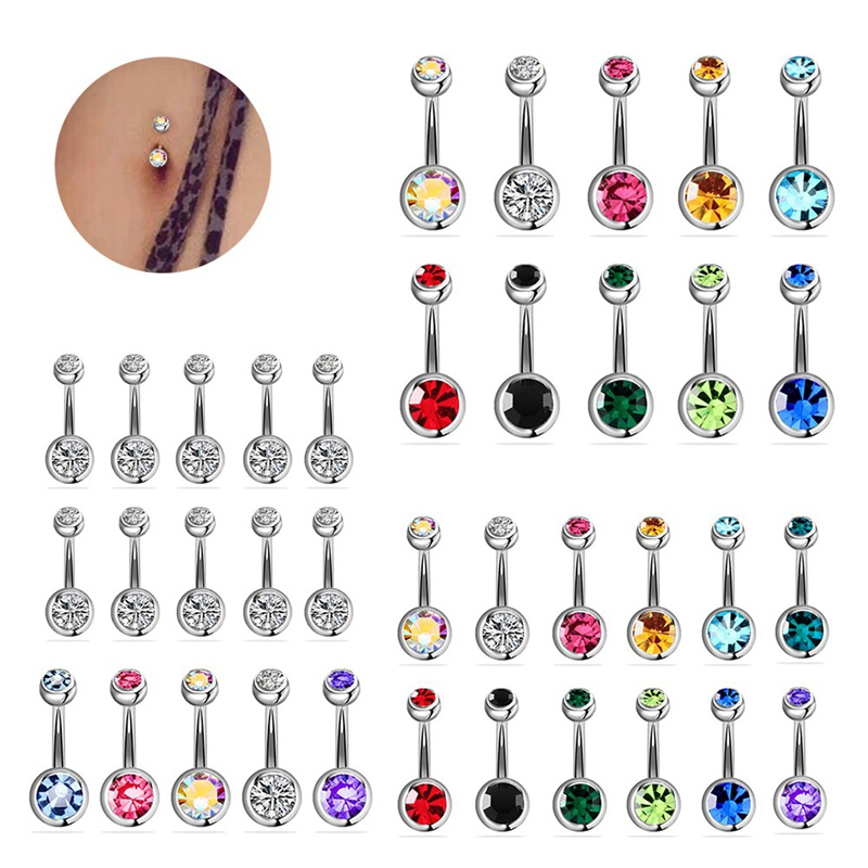 5/10/12/15/20Pcs/Set Steel Piercings  14G Navel Piercings Belly Button Piercing Dangle Earrings Belly Bar Sexy Jewelry