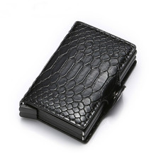 Bycobecy New Anti Thief RFID Smart Men Double Box Wallets Mo