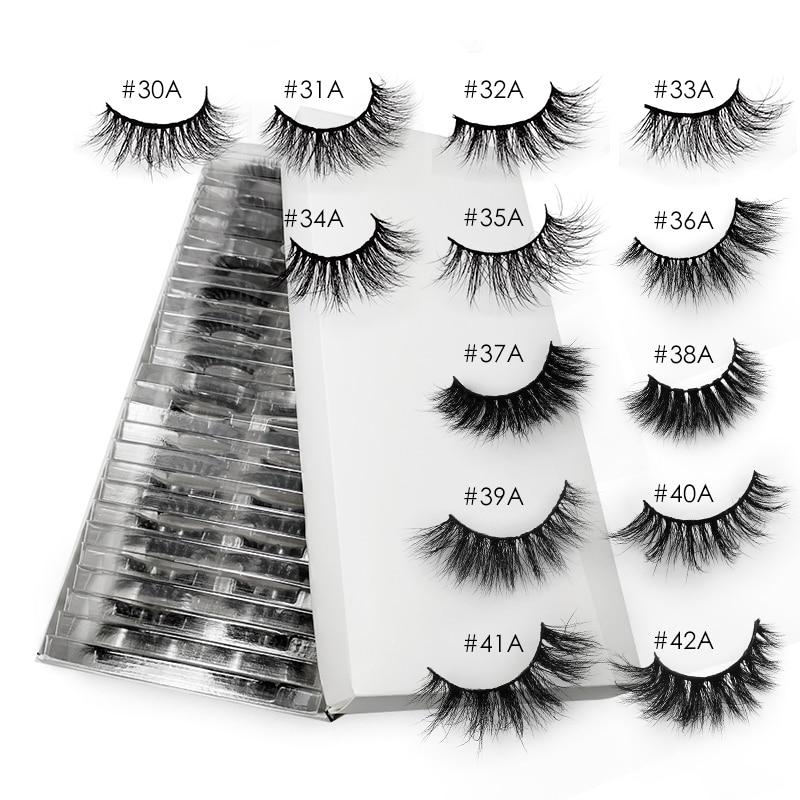 False Eyelashes 20/30/40/50pcs Lashes Wholesale Mink Eyelashes In Bulk Mink Lashes Natural Cilios Maquiagem For Makeup