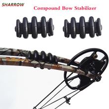 2pcs Archery Compound Bow Stabilizer Hunting Rubber Damper For Shooting Accessories