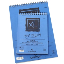 25-Sheets-Papers Pencil-Pastel Watercolour Mix-Media-Pad Multi-Technique Canson Xl