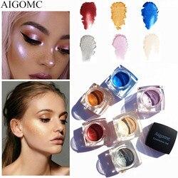 Косметический набор теней для век 6 цветов, цветной макияж, жемчужный крем для век, тени для век, монохромная зеркальная пудра с блестками и б...