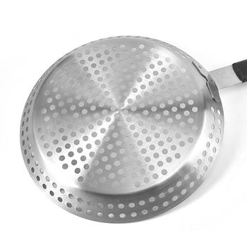 Justdolife patelnia do grilla Nonstick patelnia do grillowania ze stali nierdzewnej taca do grillowania z uchwytem misa na grilla taca do grillowania narzędzia do grillowania tanie i dobre opinie CN (pochodzenie) Other Non-stick Odporność na ciepło Łatwe do czyszczenia Metal STAINLESS STEEL Niepowlekany 6673111