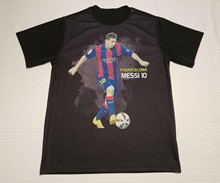Messi 10 T-Shirt Medium Hitam Sepak Bola Sepak Bola(China)