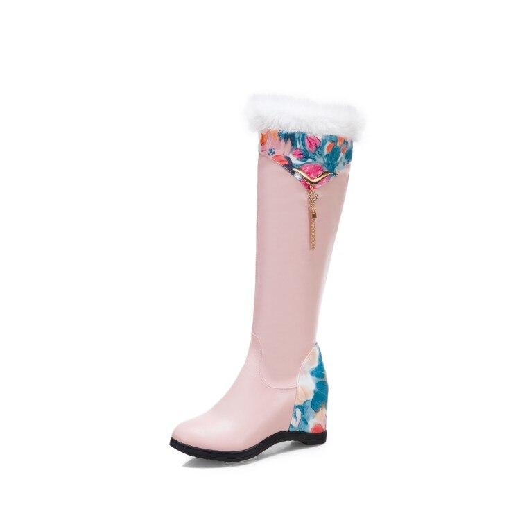 zíper takato botas preto rosa branco doce