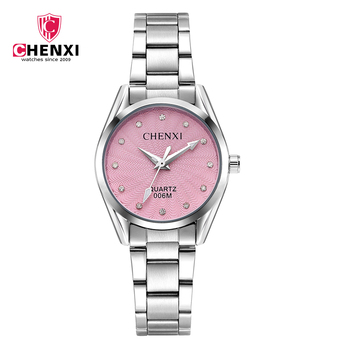 цена CHENXI Top Brand Luxury Women Watch Luminous Ladies Quartz Watch Full Stainless Steel Female Wear Decoration Women Clock онлайн в 2017 году