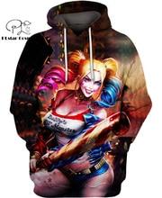 PLstar Cosmos DC Harley Quinn anime Super Attack Speed 3d hoodies/shirt/Sweatshirt Winter autumn funny Harajuku streetwear-7